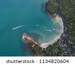aerial view of the sea and... | Shutterstock . vector #1134820604