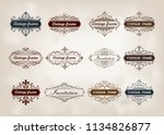 set of decorative frame in... | Shutterstock .eps vector #1134826877