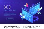 seo analytics team landing page.... | Shutterstock .eps vector #1134830744