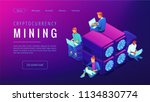cryptocyrrency mining landing... | Shutterstock .eps vector #1134830774