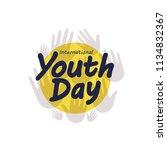 youth day vector illustration | Shutterstock .eps vector #1134832367