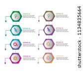 creative modern chart data...   Shutterstock .eps vector #1134835664