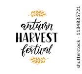 autumn harvest festival   hand... | Shutterstock .eps vector #1134835721