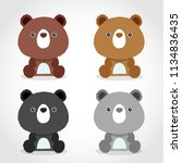 baby animal collection   vector ... | Shutterstock .eps vector #1134836435