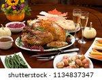 roasted pepper turkey for...   Shutterstock . vector #1134837347