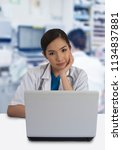 female doctor working with... | Shutterstock . vector #1134837881