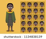 african tribe clothes female... | Shutterstock .eps vector #1134838139