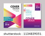 abstract modern geometric cover ... | Shutterstock .eps vector #1134839051