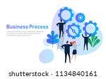 business process. flat design... | Shutterstock .eps vector #1134840161