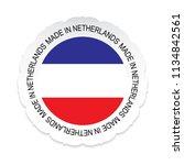 netherlands flag vector... | Shutterstock .eps vector #1134842561