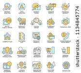 icons of business management... | Shutterstock .eps vector #1134845774
