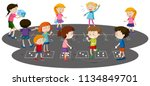 children playing together... | Shutterstock .eps vector #1134849701