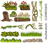 a set of nature elements... | Shutterstock .eps vector #1134852641