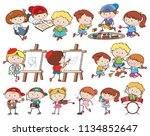 a set of children and... | Shutterstock .eps vector #1134852647