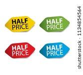 half price realistic sticker... | Shutterstock .eps vector #1134854564