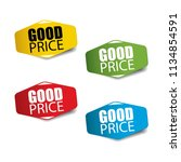 good price realistic sticker... | Shutterstock .eps vector #1134854591