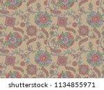 seamless texture floral design | Shutterstock . vector #1134855971