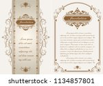 decorative frame in vintage... | Shutterstock .eps vector #1134857801