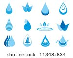 abstract symbols  of a drop... | Shutterstock .eps vector #113485834