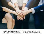 group of business teamwork... | Shutterstock . vector #1134858611