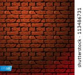 Background of brick wall texture, vector Eps 10 illustration. - stock vector