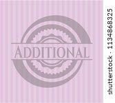 additional realistic pink emblem | Shutterstock .eps vector #1134868325