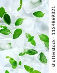 ice and mint leaves the taste... | Shutterstock . vector #1134869321
