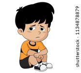 kid defeats in the competition... | Shutterstock .eps vector #1134878879
