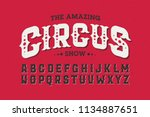 vintage style circus font ... | Shutterstock .eps vector #1134887651