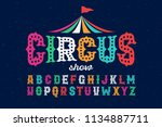 vintage style roughen circus... | Shutterstock .eps vector #1134887711