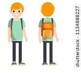 cartoon flat illustration  ... | Shutterstock . vector #1134888227