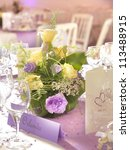 wedding decoration with flowers ... | Shutterstock . vector #113488915