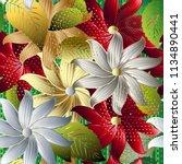 colorful decorative floral 3d...   Shutterstock .eps vector #1134890441