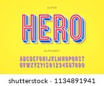 vector hero font typography... | Shutterstock .eps vector #1134891941