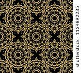 seamless floral geometric... | Shutterstock .eps vector #1134892235