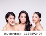 three young beautiful and fresh ...   Shutterstock . vector #1134892409
