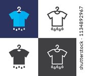 dry clothes icons | Shutterstock .eps vector #1134892967