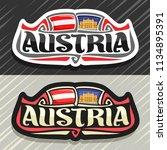 vector logo for austria country ... | Shutterstock .eps vector #1134895391