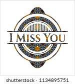i miss you arabic badge...   Shutterstock .eps vector #1134895751