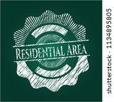 residential area written on a... | Shutterstock .eps vector #1134895805
