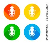 simple microphone icon. flat... | Shutterstock .eps vector #1134896834