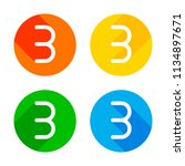 number three  numeral  simple...   Shutterstock .eps vector #1134897671