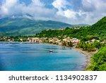 paradise coast at saint pierre... | Shutterstock . vector #1134902837