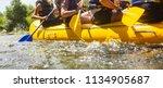rafting team   summer extreme...   Shutterstock . vector #1134905687