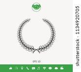 laurel wreath   elegant symbol... | Shutterstock .eps vector #1134920705
