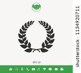 laurel wreath  element for yor... | Shutterstock .eps vector #1134920711