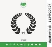 laurel wreath   for yor design | Shutterstock .eps vector #1134920729