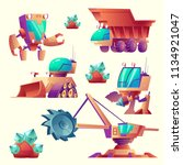 vector cartoon set of mining... | Shutterstock .eps vector #1134921047