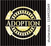adoption golden badge | Shutterstock .eps vector #1134922049