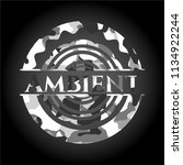 ambient written on a grey... | Shutterstock .eps vector #1134922244